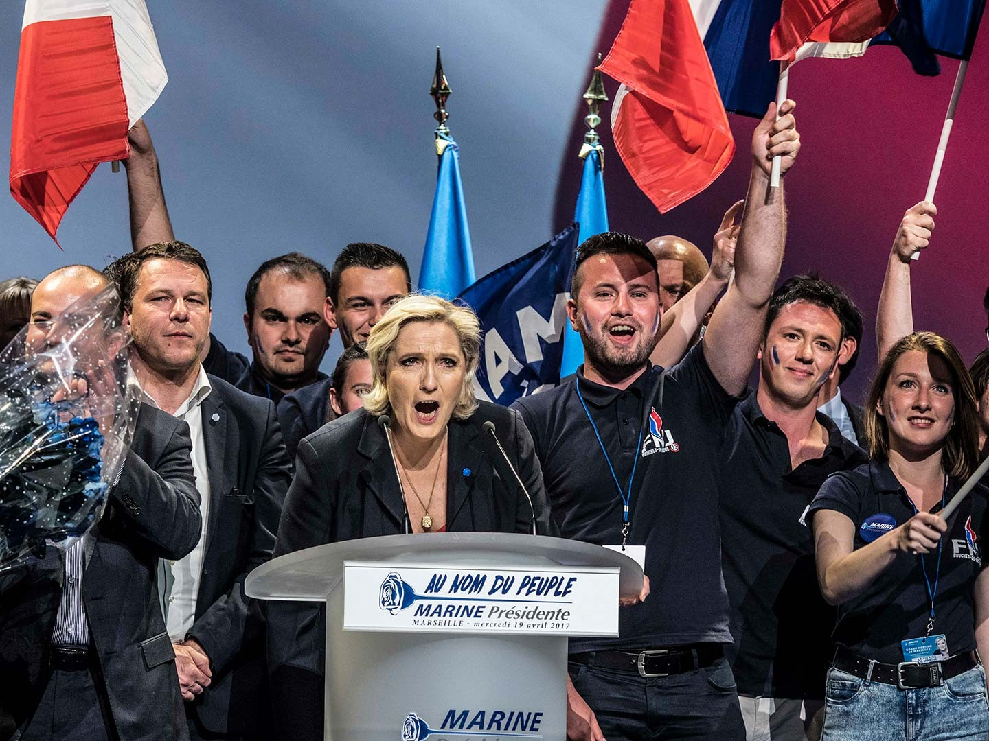 Meeting de Marine Le Pen à Marseille